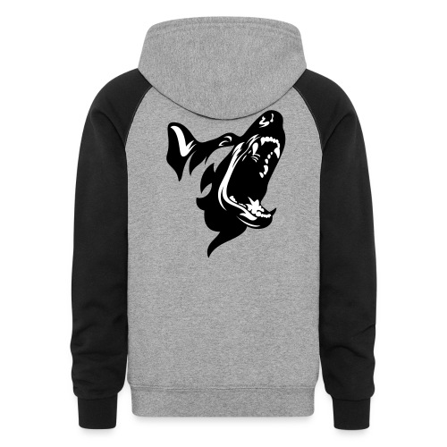 German Shepherd Dog Head - Colorblock Hoodie
