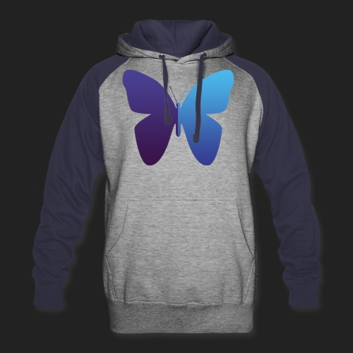 528 Evenings Butterfly - Colorblock Hoodie