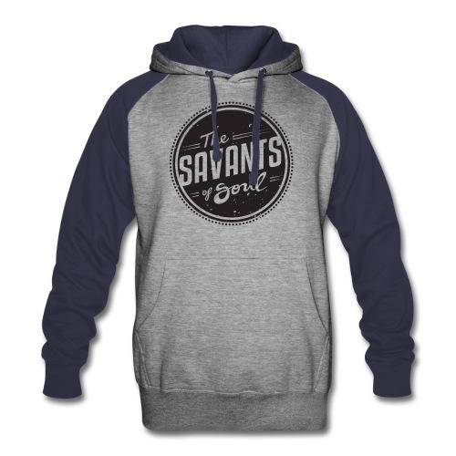 Savants of Soul Logo- Distressed - Colorblock Hoodie