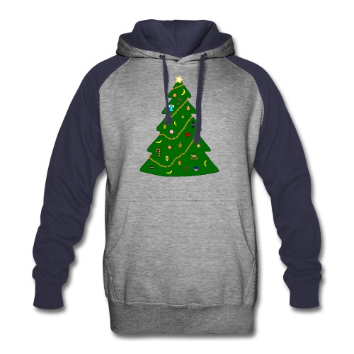 Christmas Tree For Monkey - Colorblock Hoodie