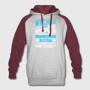 WORLD AUTSIM AWARENESS SHIRT FOR AUTISM MOM & DAD - Colorblock Hoodie