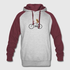 Owl Riding Bike T Shirt - Colorblock Hoodie