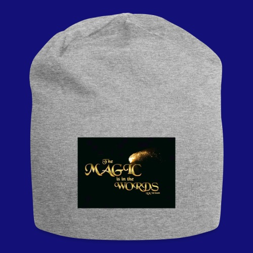 The magic is in the words gold - Jersey Beanie