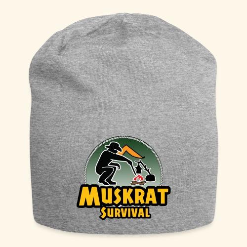 Muskrat round logo - Jersey Beanie