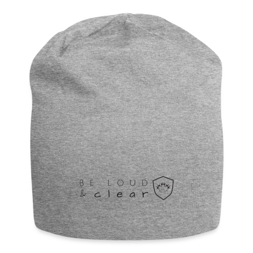 loud and clear transparent - Jersey Beanie
