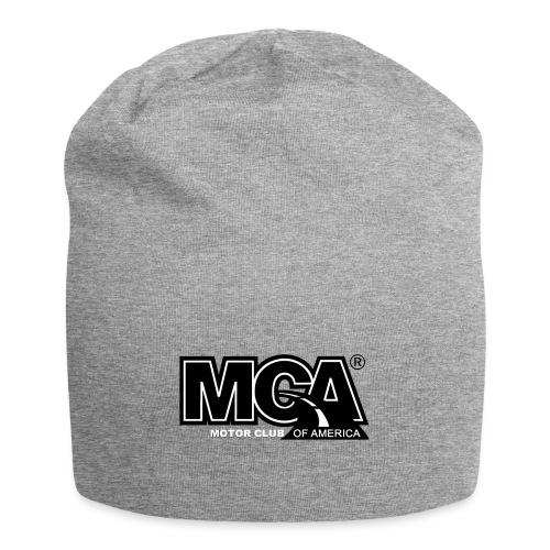 MCA Logo WBG Transparent BLACK TITLEfw fw png - Jersey Beanie
