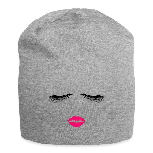 Lipstick and Eyelashes - Jersey Beanie