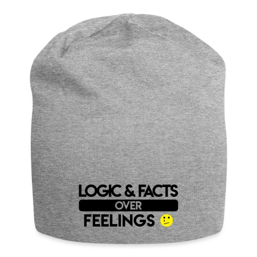 facts over feelings black - Jersey Beanie