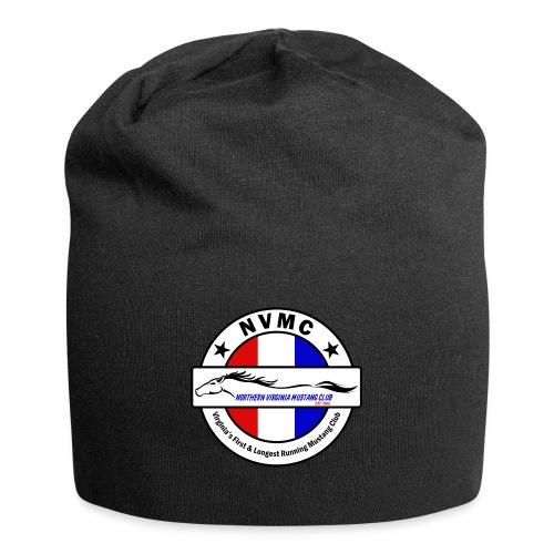 Circle logo on white with black border - Jersey Beanie