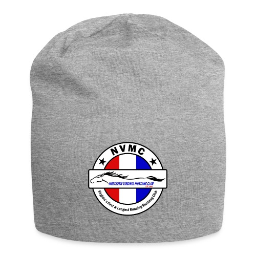 Circle logo on white with black border - Jersey Beanie