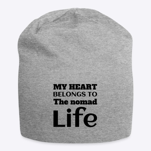 My Heart Belongs to the nomad Life-Dark - Jersey Beanie