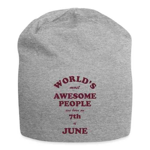 Most Awesome People are born on 7th of June - Jersey Beanie
