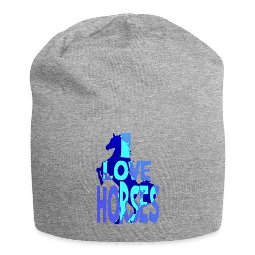I Love Horses-blue - Jersey Beanie