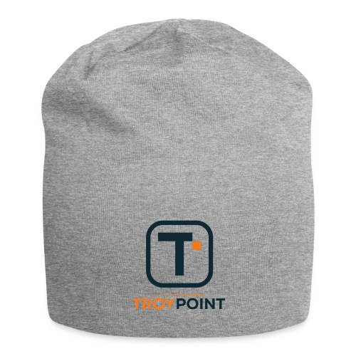 TROYPOINT Navy Logo - Jersey Beanie