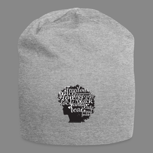 Afro Text II - Jersey Beanie