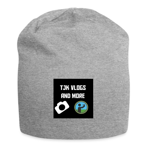 TJK Vlogs and More logo clothing - Jersey Beanie