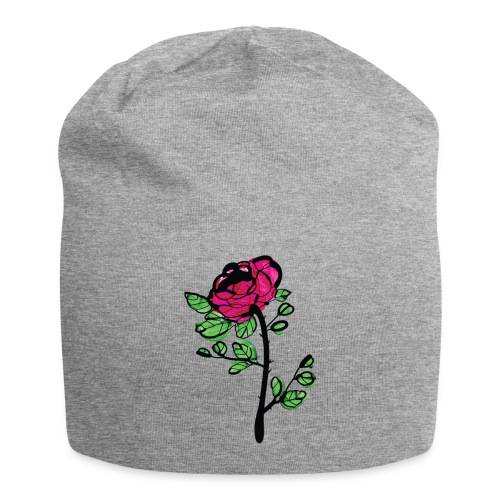 watercolor rose - Jersey Beanie