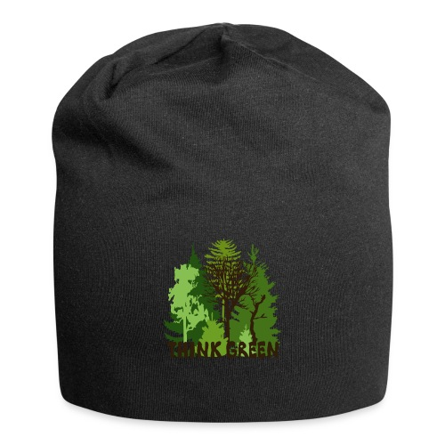 EARTHDAYCONTEST Earth Day Think Green forest trees - Jersey Beanie