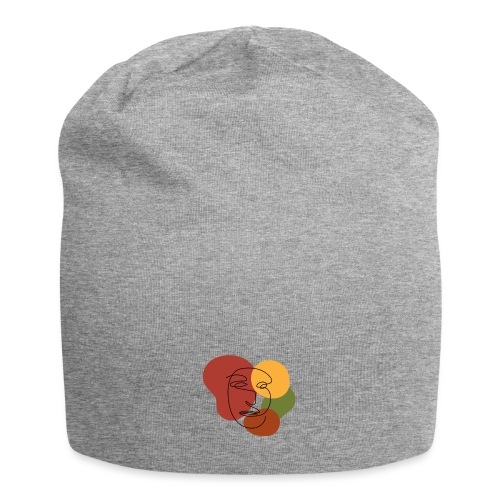 abstract minimalist face - Jersey Beanie