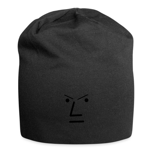 Grey Face Design Angry - Jersey Beanie