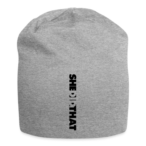 She Did That Large Design - Jersey Beanie