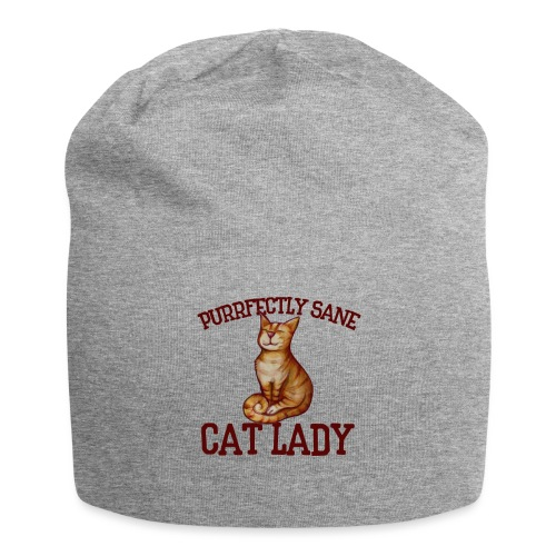 Purrfectly sane cat lady - Jersey Beanie