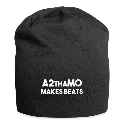 A2thaMoMakesBeats Logo White - Jersey Beanie