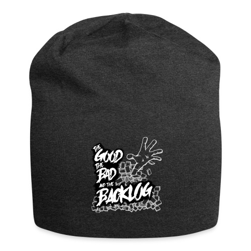 The Good, the Bad, and the Backlog - White logo2 - Jersey Beanie