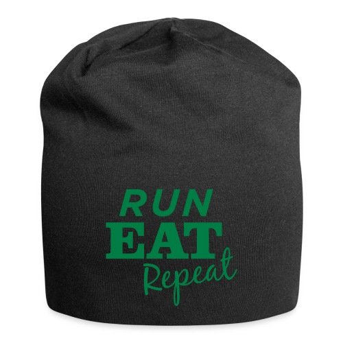 Run Eat Repeat buttons medium - Jersey Beanie