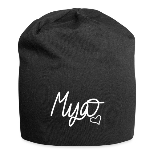 Mya, Signature Hand Drawn (White) - Jersey Beanie