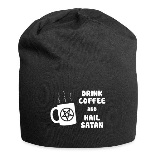 Drink Coffee, Hail Satan - Jersey Beanie