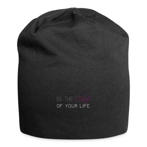 Be_the_Chief_of_your_life_-_White_Version - Jersey Beanie