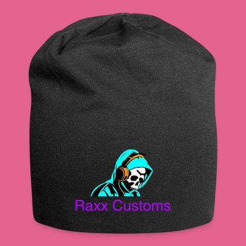 SKULL RAXX CUSTOMS logo turqoise - Jersey Beanie