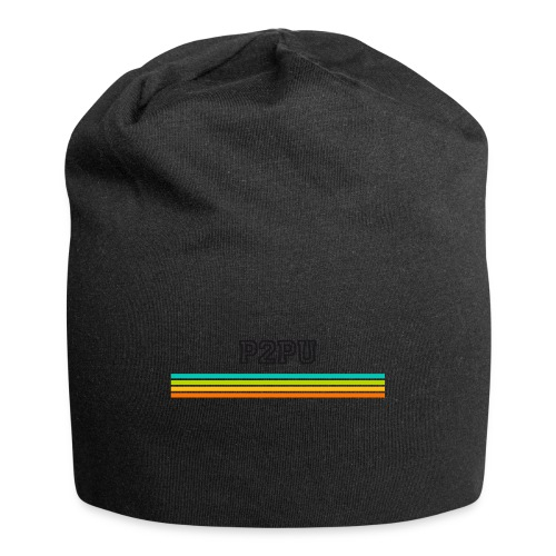 striped mug black logo png - Jersey Beanie