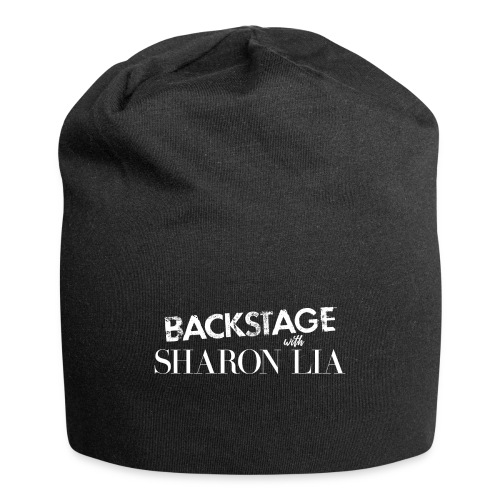 Backstage With Sharon Lia - White - Jersey Beanie