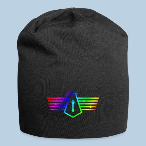 Westport Bird Rainbow on transparent - Jersey Beanie