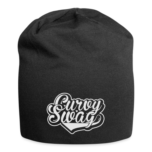 Curvy Swag Reversed Out Design - Jersey Beanie