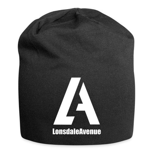 Lonsdale Avenue Logo White Text - Jersey Beanie