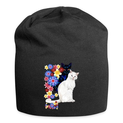 Black and White Garden Kitties.. - Jersey Beanie