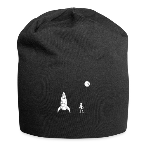 rocket to the moon - Jersey Beanie