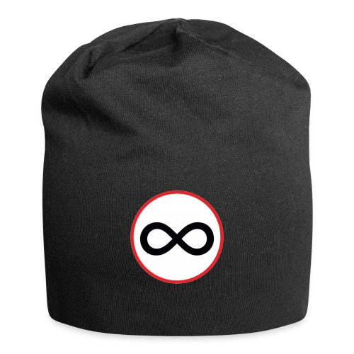 Infinity sign red circle - Jersey Beanie