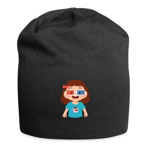Girl red blue 3D glasses doing Vision Therapy - Jersey Beanie