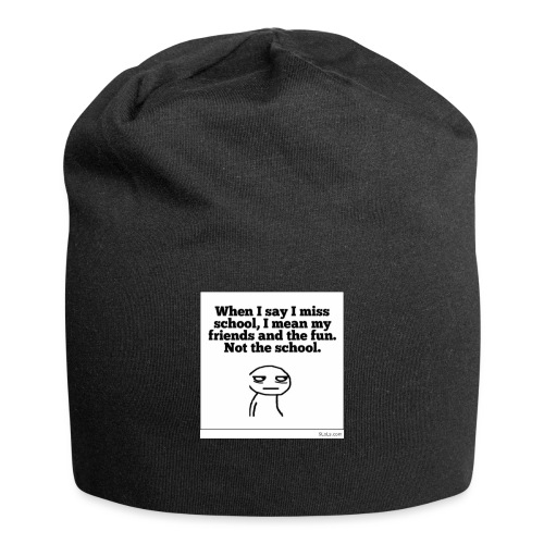 Funny school quote jumper - Jersey Beanie