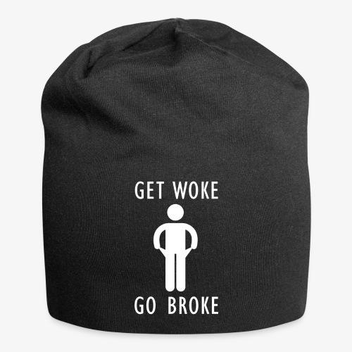 Get Woke Go Broke - Jersey Beanie