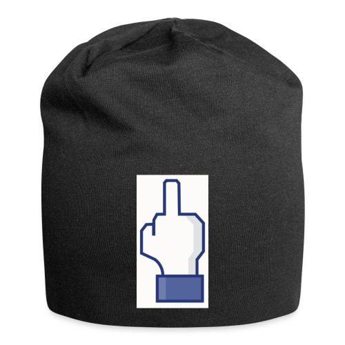 facebook middle finger di - Jersey Beanie