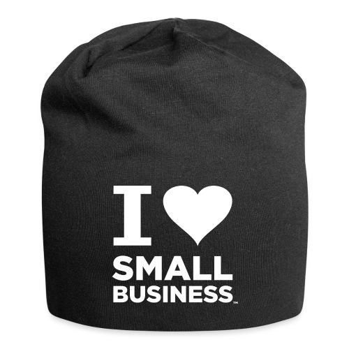 I Heart Small Business Logo (All White) - Jersey Beanie