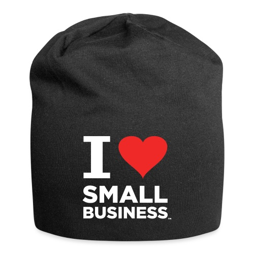 I Heart Small Business Logo (Red & White) - Jersey Beanie