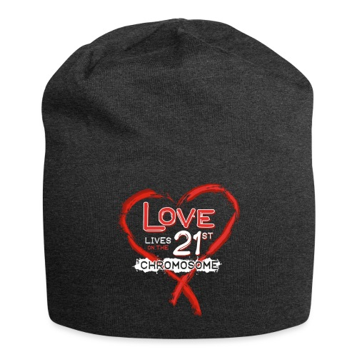 Down Syndrome Love (Red/White) - Jersey Beanie