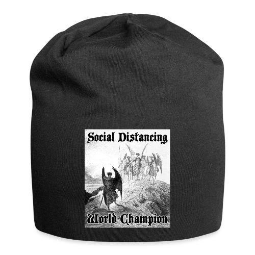 Social Distancing World Champion - Jersey Beanie