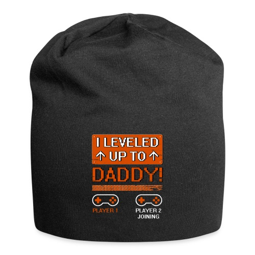 I Leveled Up To Daddy - Jersey Beanie